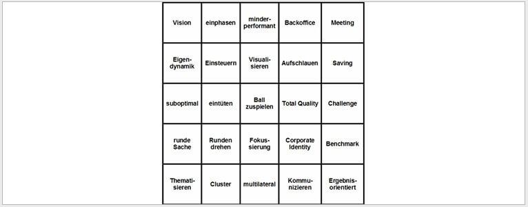 büro bingo