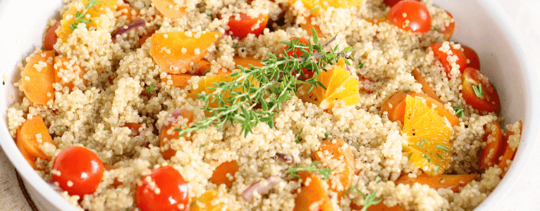 Quinoa is a healthy ingredient for your lunch break