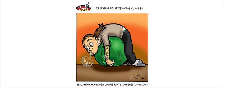 Cartoon Berliner-Papa