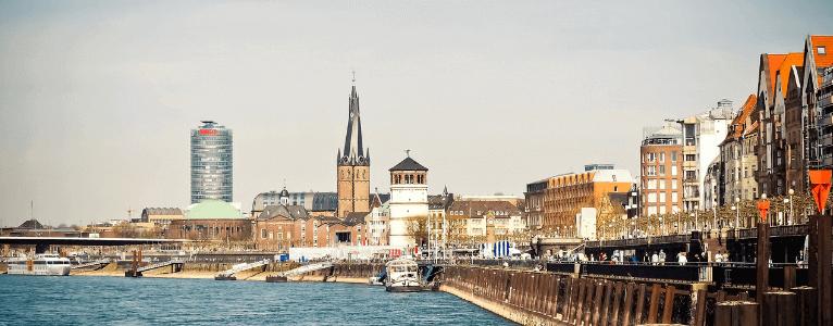 Dusseldorf River Wide