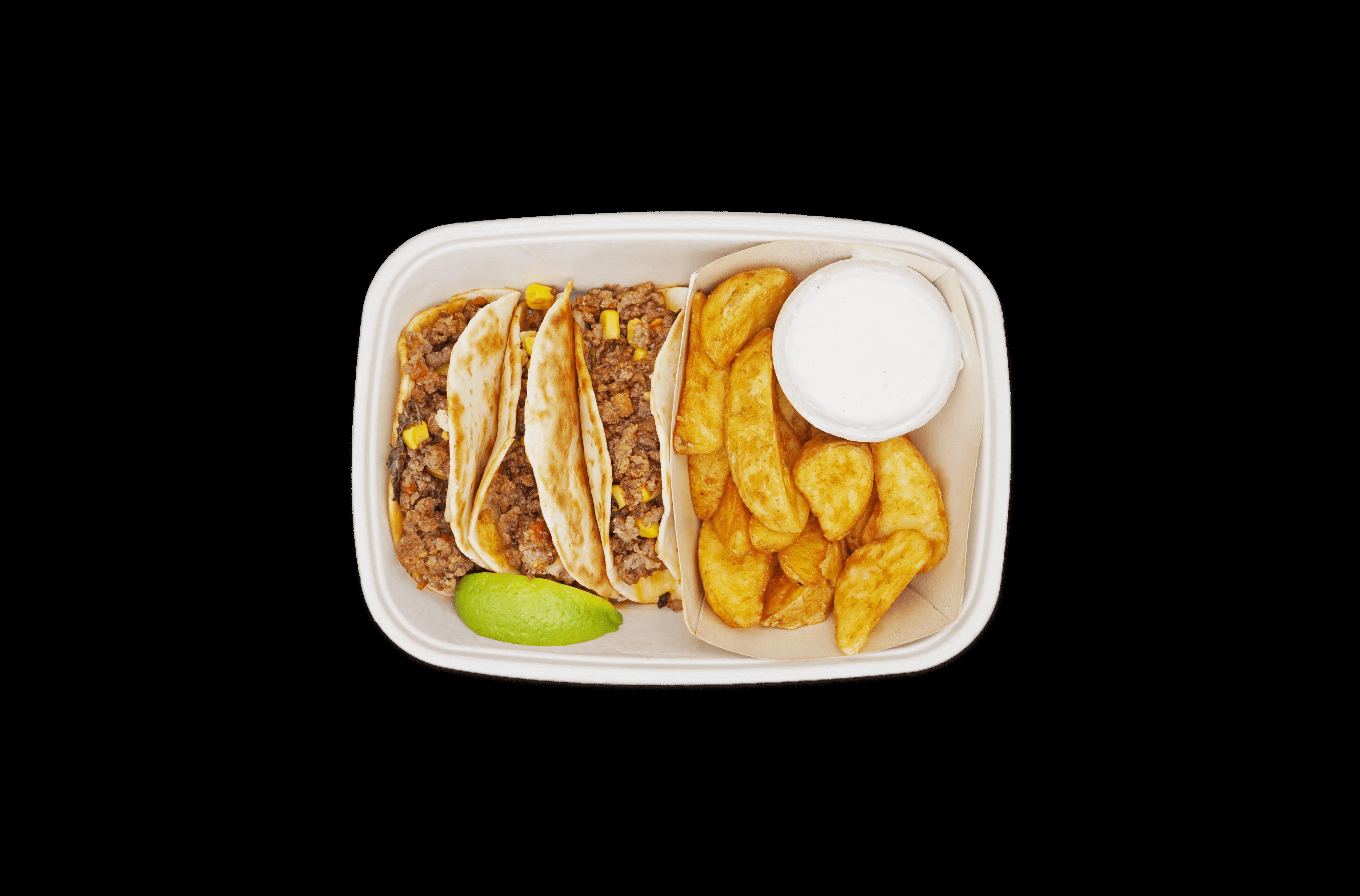 Cajun Rinderhack Tacos